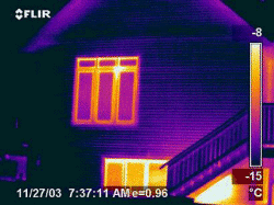Thermograph Image of Logix Walled House