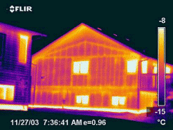 Thermograph Image of Conventional House Framing